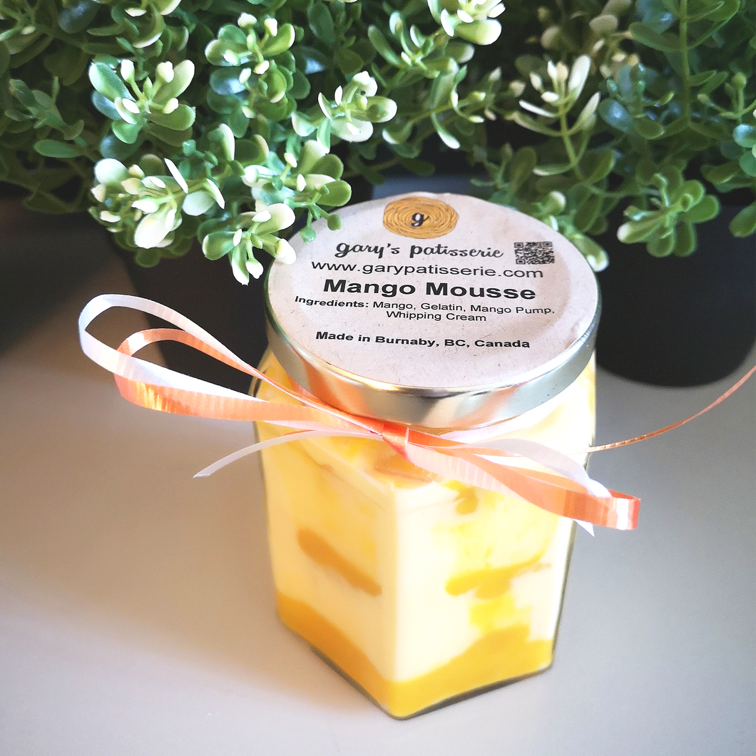 Mango Mousse Cake in-a-Jar