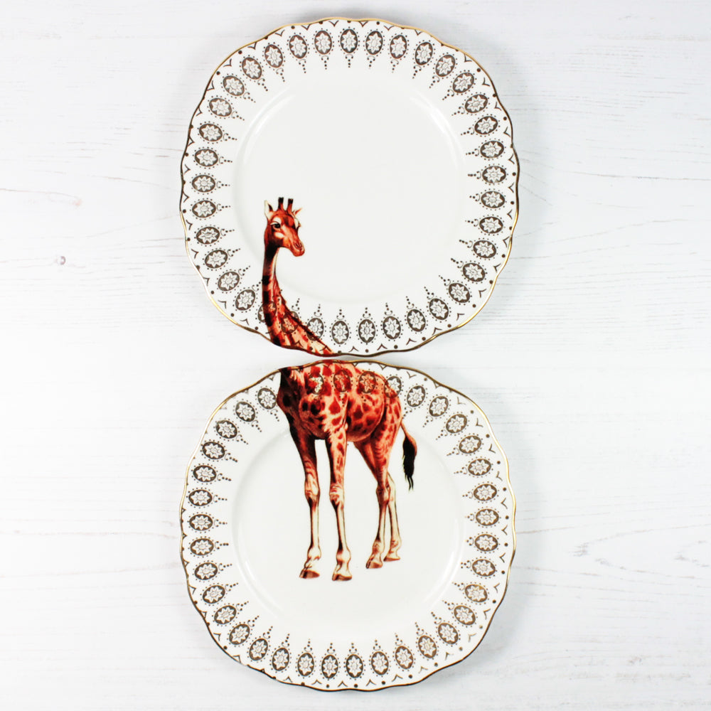 Load image into Gallery viewer, Vintage Giraffe Plates