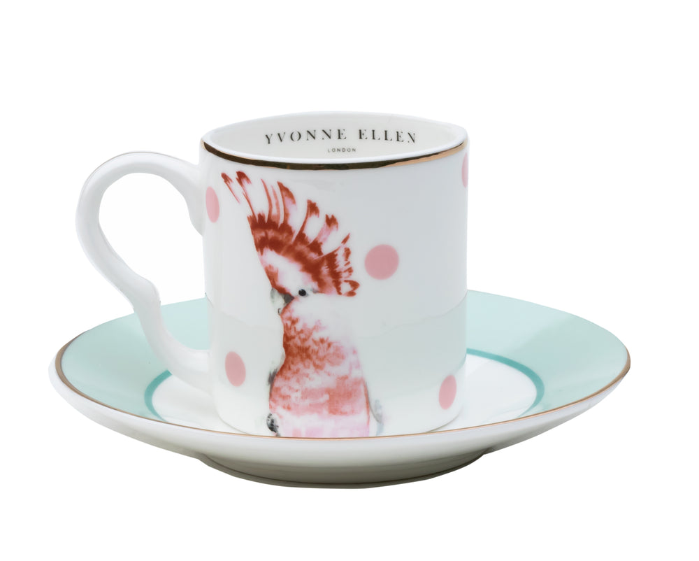 Load image into Gallery viewer, Bird espresso cup and saucer