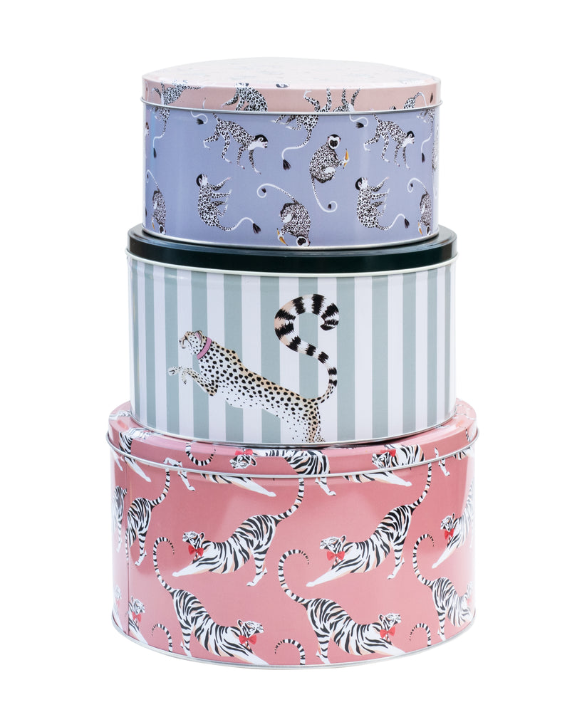 Round Animal Cake Tins, set of 3
