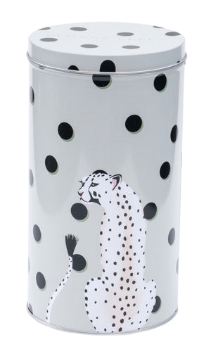 Cheetah storage canister tin