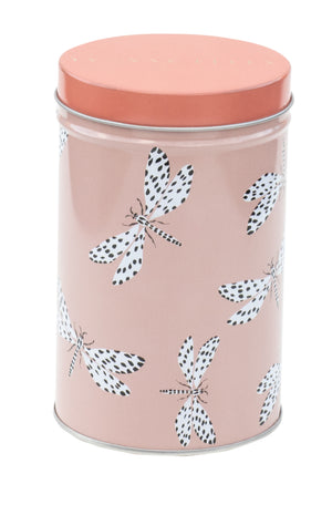 Dragonfly storage canister tin