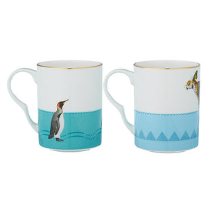 Leopard and Penguins Mugs