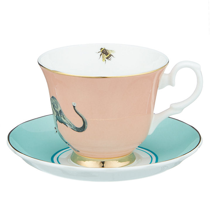 Load image into Gallery viewer, Elephant Teacup and Saucer