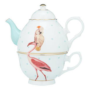 Parrot and Flamingo Tea For One Set