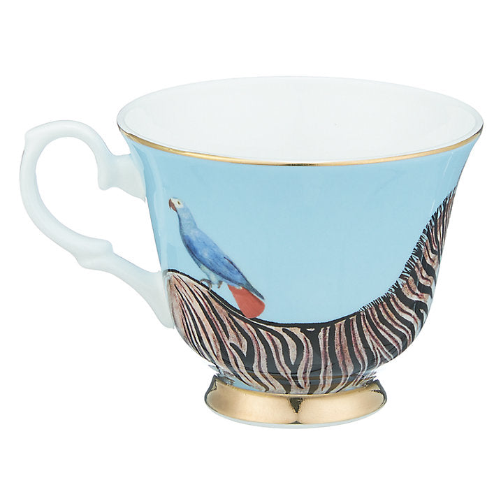 Zebra and Parrot Teacup