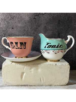 Pastel Tonic Jug and gin tea cup