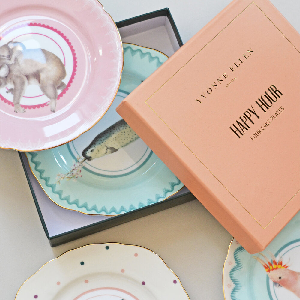 Load image into Gallery viewer, Pretty Pastel Animal Cake Plates