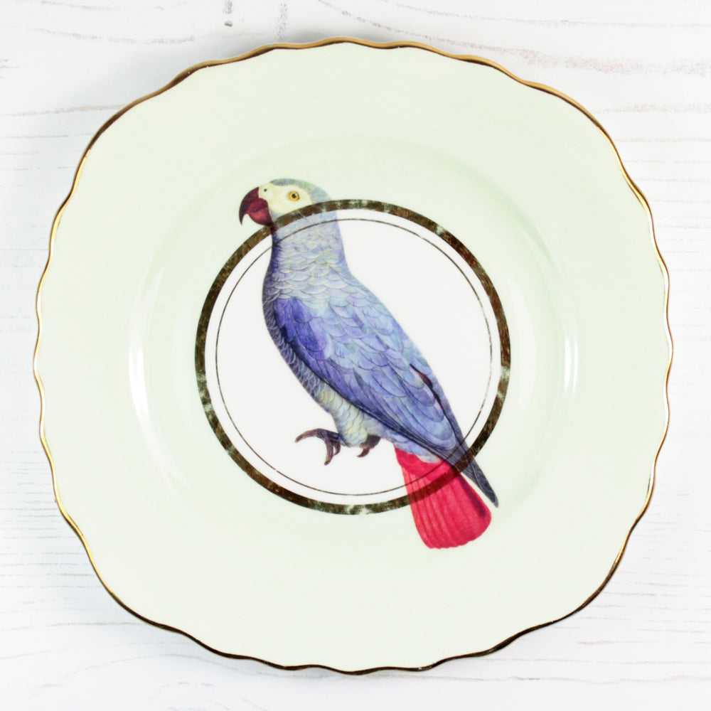 Load image into Gallery viewer, Vintage Beautiful Birds plate set