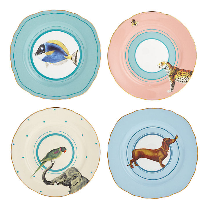 Animal Cake Plates, Set of 4