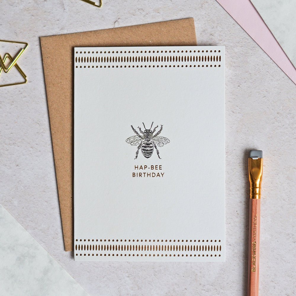 Mono Hap-Bee Birthday Greeting Card