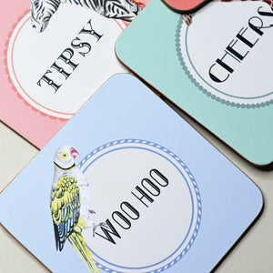 Three Tipsy Coasters