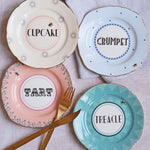 Cheeky Cake Plates, Set of 4