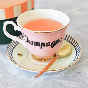 Load image into Gallery viewer, Pastel Champagne Tea Cup & Saucer
