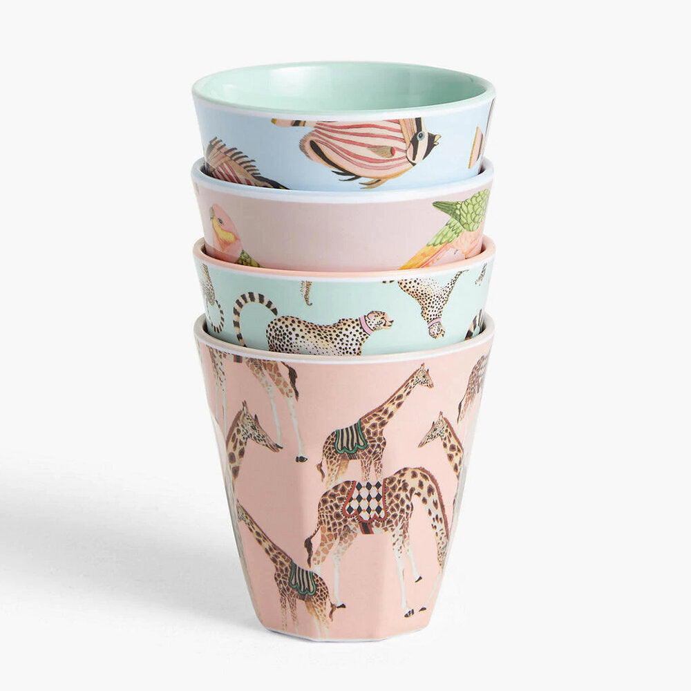 Safari Picnic Tumblers, set of 4