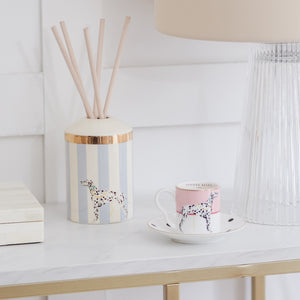Load image into Gallery viewer, Dalmatian espresso cup and ceramic reed diffuser