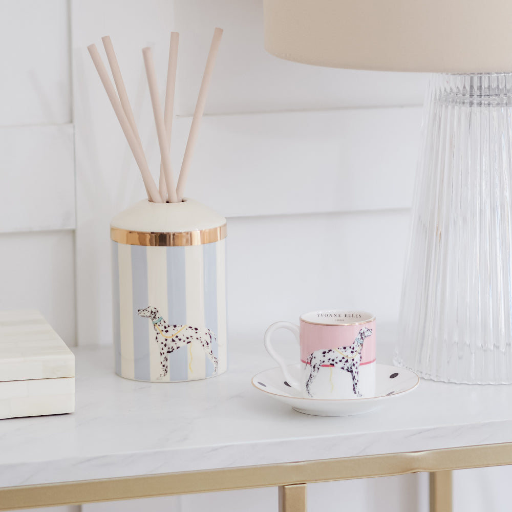 Load image into Gallery viewer, Dog reed diffuser with dog espresso cup