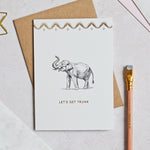 Mono Let's Get Trunk Greeting Card