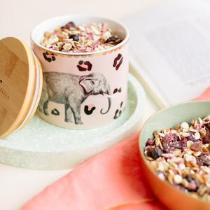 Load image into Gallery viewer, Elephant storage jar with muesli
