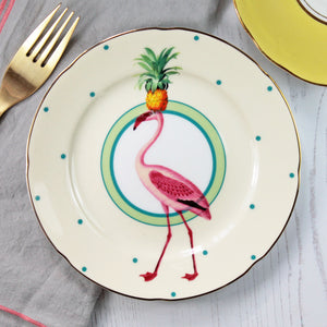 Load image into Gallery viewer, Pineapple Flamingo Cake Plate