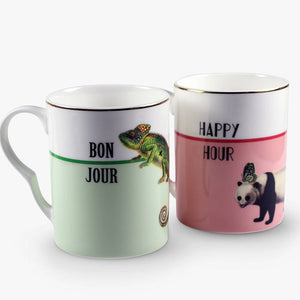 Happy Hour and Bonjour Mugs