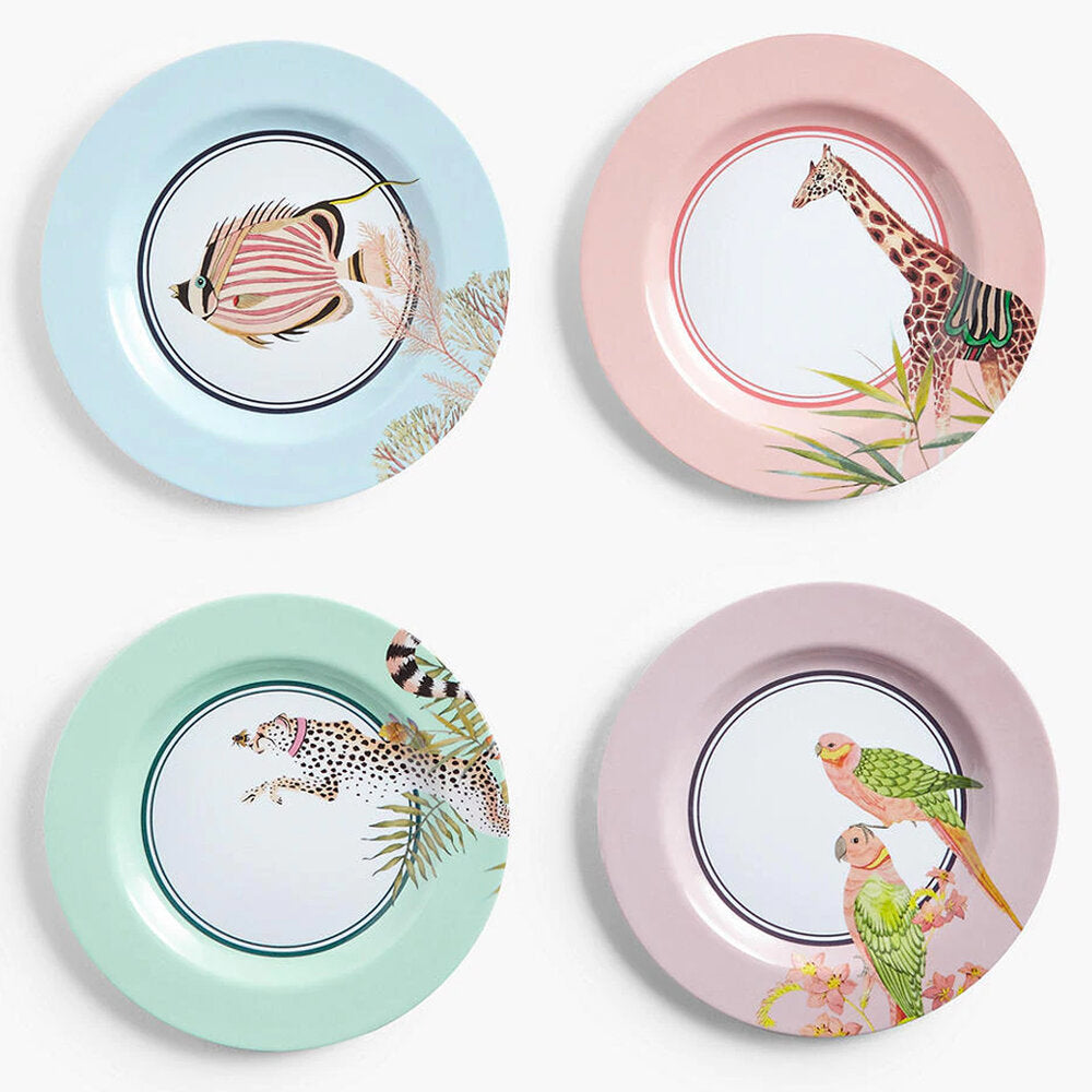 Four Safari Picnic Side Plates