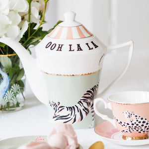 Tiger teapot and teacup