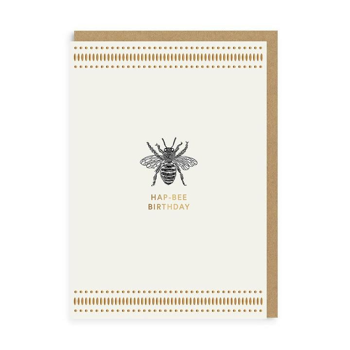 Load image into Gallery viewer, Mono Hap-Bee Birthday Greeting Card