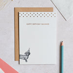 Mono Happy Birthday Sausage Greeting Card
