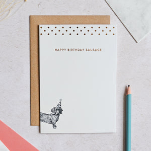 Load image into Gallery viewer, Mono Happy Birthday Sausage Greeting Card