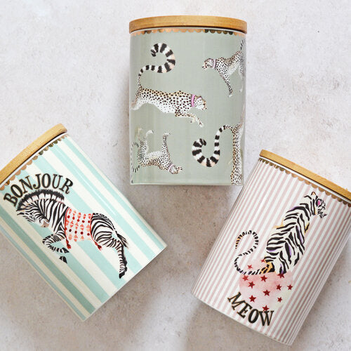 Set of three storage jars