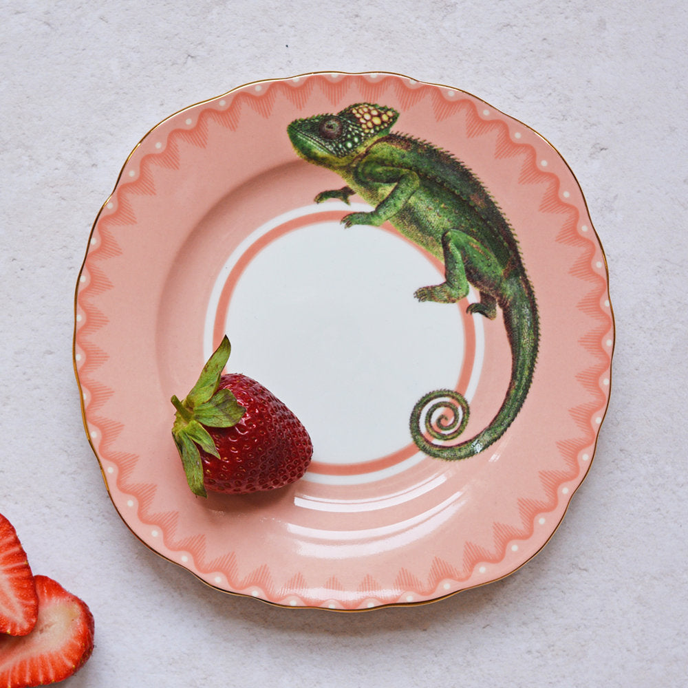 Crafty Chameleon Tea Plate