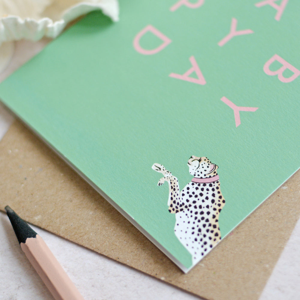 Load image into Gallery viewer, Cheeky Cheetah Birthday Card