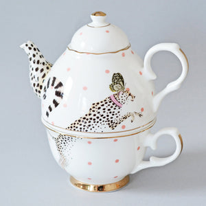 Load image into Gallery viewer, Cheeky Cheetah Tea for One Set