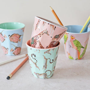 Load image into Gallery viewer, Four Safari Picnic Tumblers with pencils