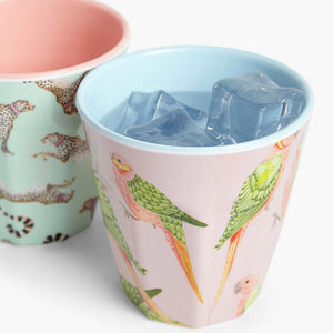 Parrot picnic tumbler with ice