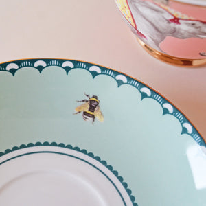 Load image into Gallery viewer, Bee emblem on saucer