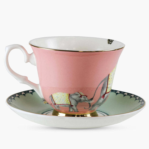Load image into Gallery viewer, Carnival Elephant Teacup and Saucer