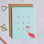 Fancy Flamingo Birthday Card