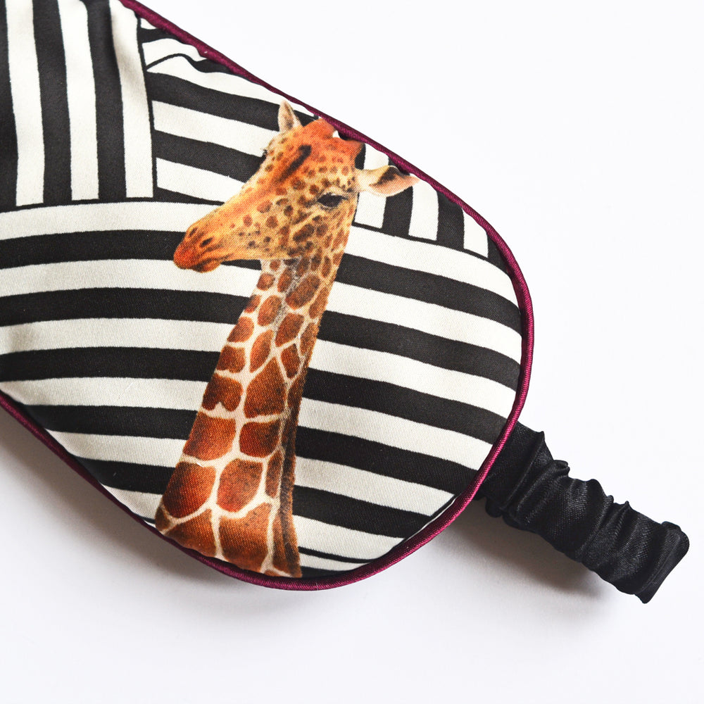 Mono Stripe Giraffe Eye Mask