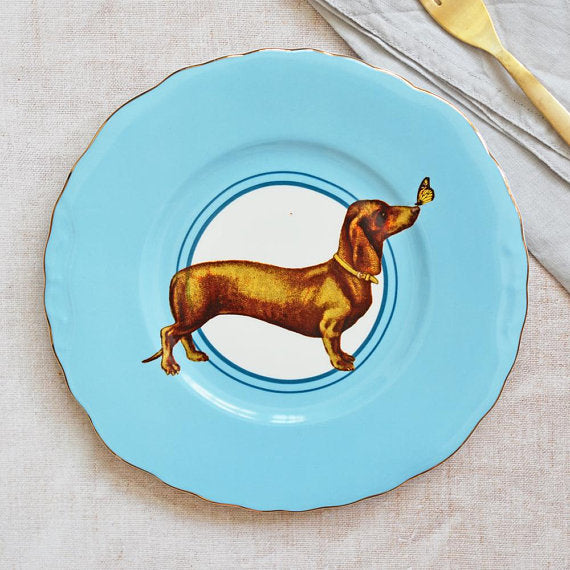 Load image into Gallery viewer, Sausage Doggie Plate - large
