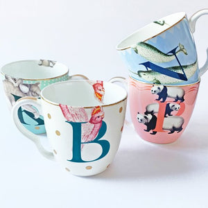 B, P, N and K Alphabet Mugs