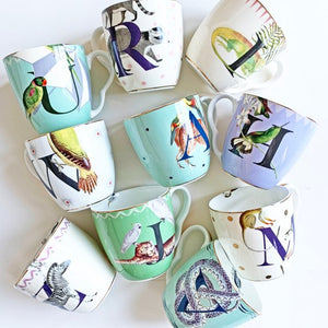Selection of Alphabet Mugs