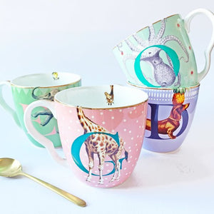 E, O, G and D Alphabet Mugs