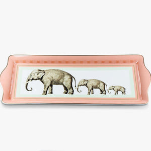 Load image into Gallery viewer, Elephant Fine China Cake Tray