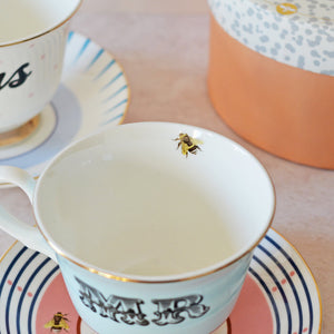 Tea Cup with bee motif