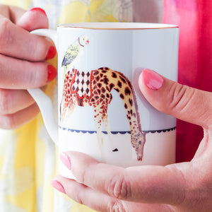 Load image into Gallery viewer, Carnival Elephant and Giraffe Mugs, Set of 2