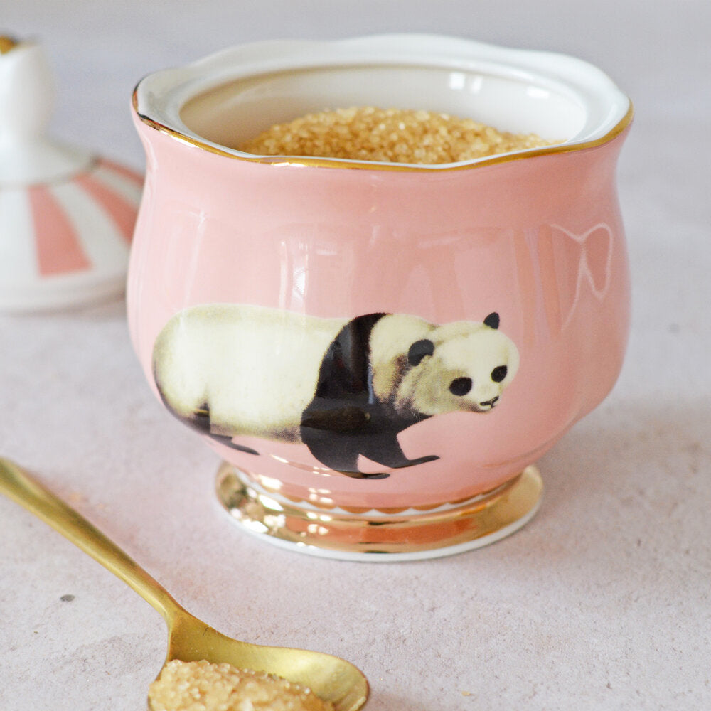 Load image into Gallery viewer, Close up of Panda Sugar Bowl