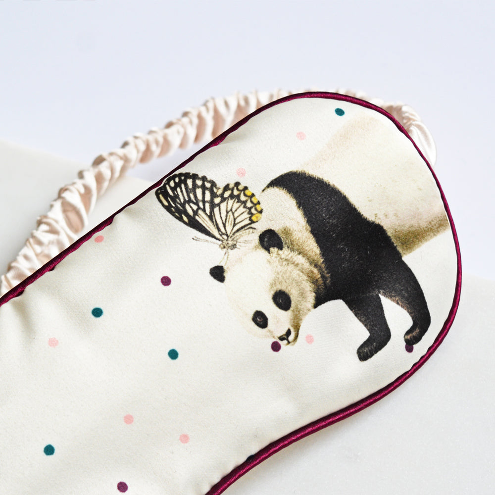 Polka Dot Panda Eye Mask