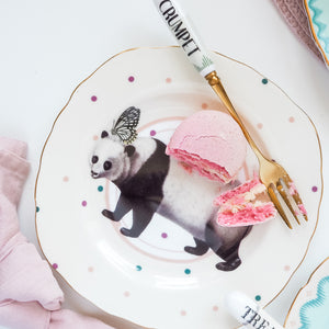Load image into Gallery viewer, Pretty Pastel Animal Cake Plates, Set of 4